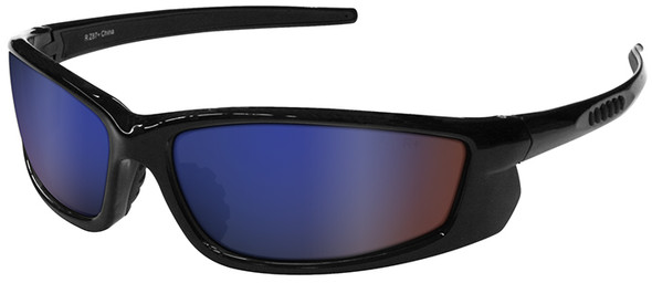 Radians Voltage Safety Glasses with Black Frame and Electric Blue Lens VT1-63