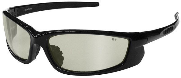 Radians Voltage Safety Glasses with Black Frame and Indoor/Outdoor Lens
