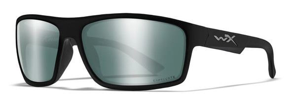 Wiley X Peak Safety Sunglasses with Matte Black Frame and Silver Flash Mirror Lens