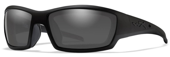 Wiley X Tide Black Ops Safety Sunglasses with Matte Black Frame and Smoke Grey Lens