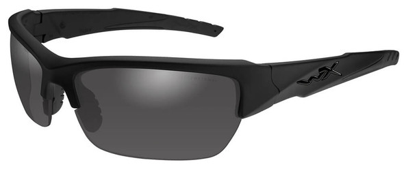 Wiley X Valor Black Ops Ballistic Sunglasses with Matte Black Frame and Smoke Grey Lens