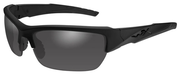 Wiley X Valor Black Ops Safety Sunglasses with Matte Black Frame and Polarized Smoke Gray Lenses