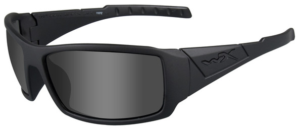 Wiley X Twisted Black Ops Safety Sunglasses with Matte Black Frame and Polarized Smoke Gray Lenses