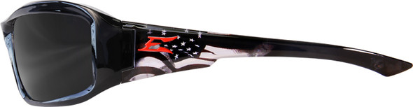 Edge Brazeau Designer Series with Black Patriot1 Frame and Smoke Lens - Side View