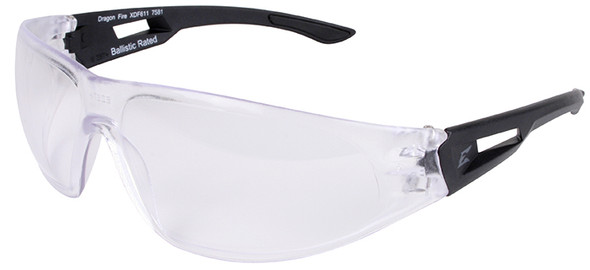 Edge Tactical Eyewear Dragon Fire Safety Glasses Clear Anti-Fog Lens