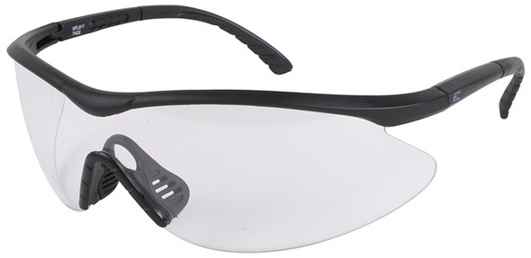 Edge Tactical Eyewear Fastlink Safety Glasses Black Frame Clear Vapor Shield Lens
