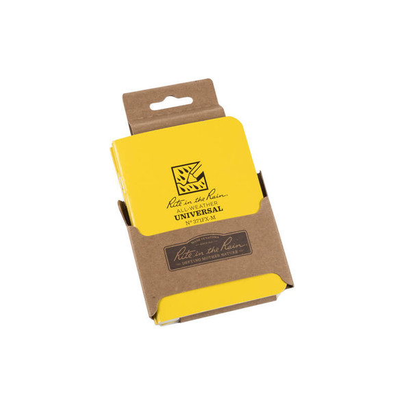 Rite In The Rain Stapled Mini-Notebook Yellow 3 PK - Packaging