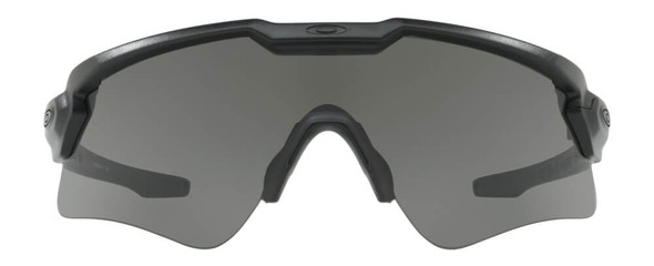 Oakley SI Ballistic M Frame Alpha Sunglasses with Matte Black Frame and Grey Lens - Front