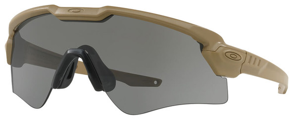 Oakley SI Ballistic M Frame Alpha Sunglasses with Terrain Tan Frame and Grey Lens