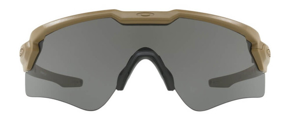 Oakley SI Ballistic M Frame Alpha Sunglasses with Terrain Tan Frame and Grey Lens - Front