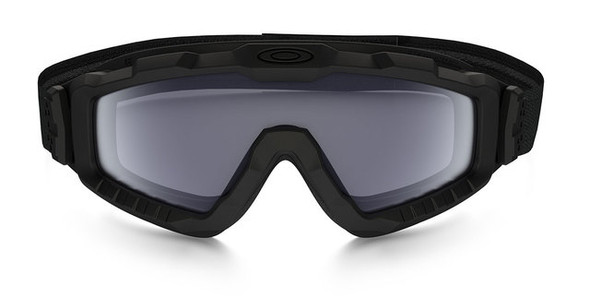 Oakley SI Ballistic Halo Goggle with Matte Black Frame and Grey Lens Front