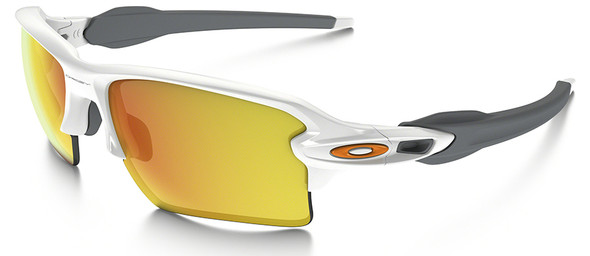 Oakley Flak Jacket 2.0 XL Sunglasses with Polished White Frame and Fire Iridium Lens