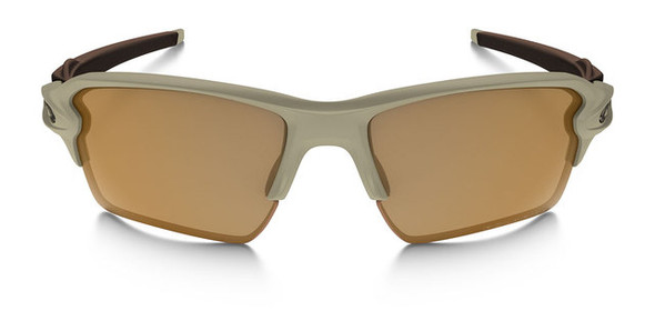 Oakley SI Flak Jacket 2.0 XL with Desert Frame and Bronze Polarized Lens Front