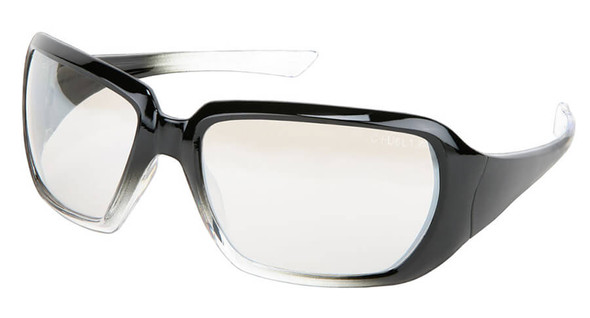 Crews CR2 Women's Safety Glasses with Black Gradient Frame and Indoor-Outdoor Lens