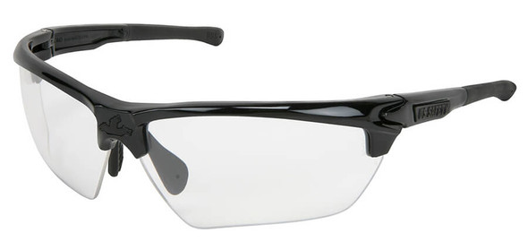 Crews Dominator 3 Safety Glasses with Black Frame and Clear Anti-Fog Lens