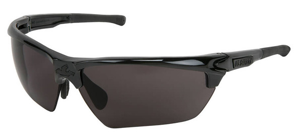 Crews Dominator 3 Safety Glasses with Black Frame and Gray Anti-Fog Lens