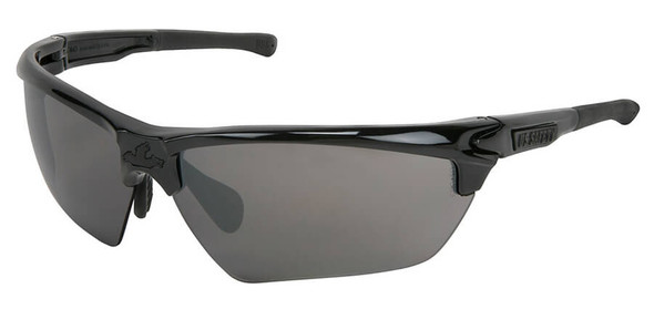 Crews Dominator 3 Safety Glasses with Black Frame and Polarized Smoke Mirror Lens