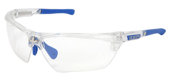 Crews Dominator 3 Safety Glasses with Clear Frame and Clear Anti-Fog Lens