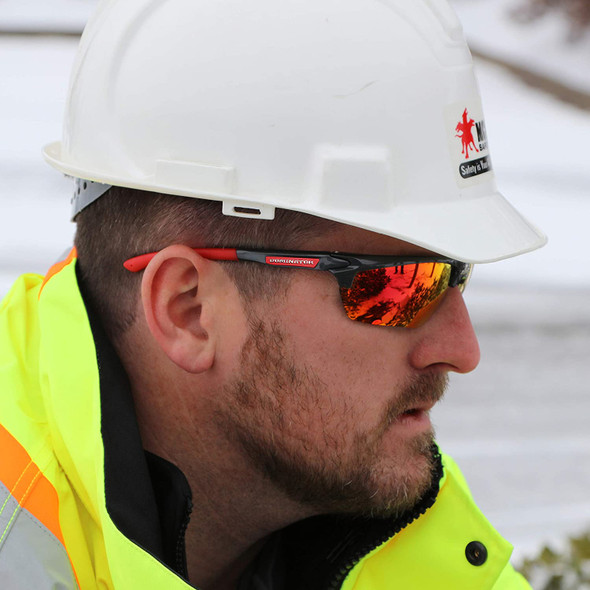 Crews Dominator 3 DM131R Safety Glasses worn in the field