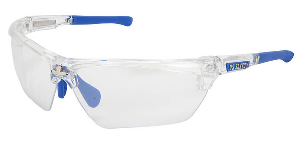 Crews Dominator 3 Safety Glasses with Clear Frame and Indoor-Outdoor Lens