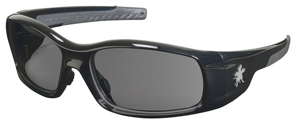 Crews Swagger Safety Glasses with Black Frame and Gray Lens
