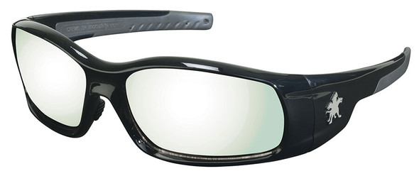 Crews Swagger Safety Glasses with Black Frame and Indoor-Outdoor Anti-Fog Lens