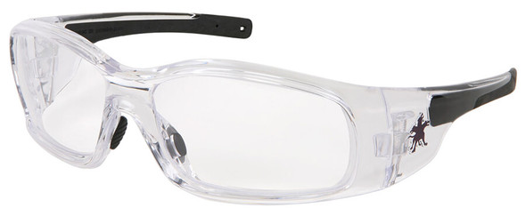 Crews Swagger Safety Glasses with Clear Frame and Clear Anti-Fog Lens