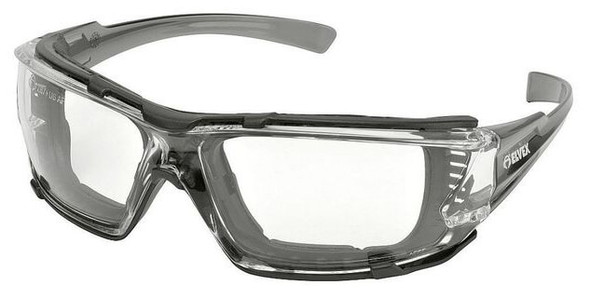 Elvex Go-Specs IV Safety Glasses Gray Temples, Foam Gasket, Clear Anti-Fog Lens GG-16C-AF