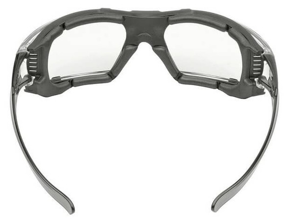 Elvex Go-Specs IV Safety Glasses Gray Temples, Foam Gasket, Clear Anti-Fog Lens GG-16C-AF Back