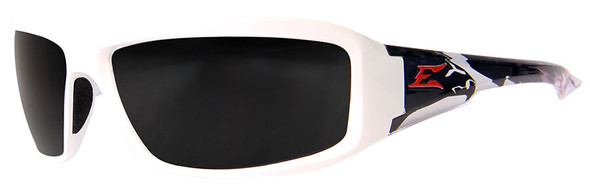 Edge Brazeau Designer Series with White Patriot2 Frame and Polarized Smoke Lens