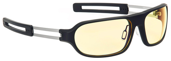 Gunnar Trooper Computer Glasses with Onyx Frame and Amber Lens