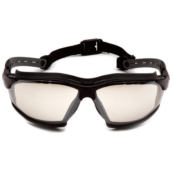 Pyramex Isotope Convertible Safety Glasses/Goggles with Black Frame and Indoor/Outdoor Anti-Fog Lens - Front