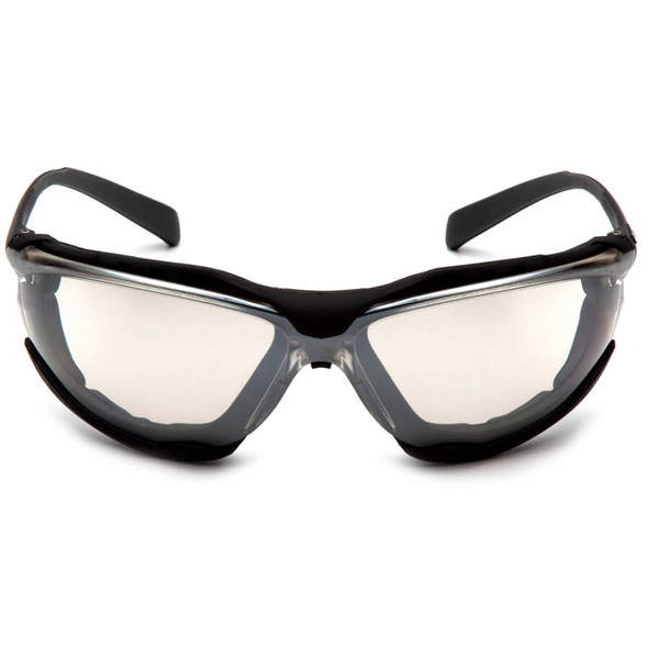 Pyramex Proximity Safety Glasses with Black Frame and Indoor/Outdoor Anti-Fog Lens - Front