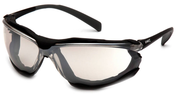 Pyramex Proximity Safety Glasses with Black Frame and Indoor/Outdoor Anti-Fog Lens