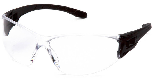 Pyramex Trulock Dielectric Safety Glasses with Black Temples and Clear Anti-Fog Lens