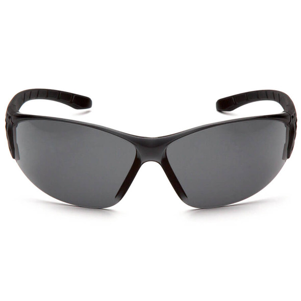 Pyramex Trulock Dielectric Safety Glasses with Black Temples and Gray Anti-Fog Lens - Front SB9520ST