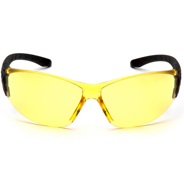 Pyramex Trulock Dielectric Safety Glasses with Black Temples and Amber Lens - Front