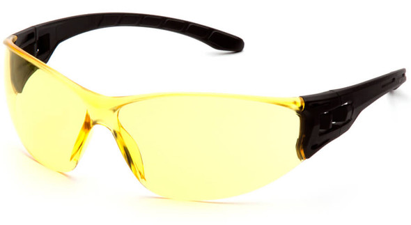 Pyramex Trulock Dielectric Safety Glasses with Black Temples and Amber Lens SB9530S
