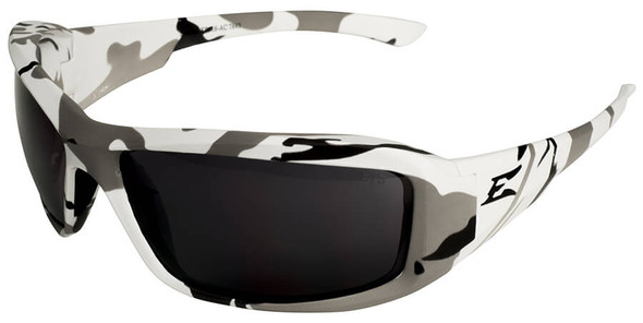 Edge Brazeau Ballistic Safety Glasses with Arctic Camo Frame and Smoke Lens