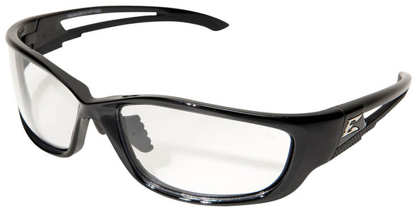 Edge Kazbek XL Safety Glasses with Black Frame and Clear Vapor Shield Lens