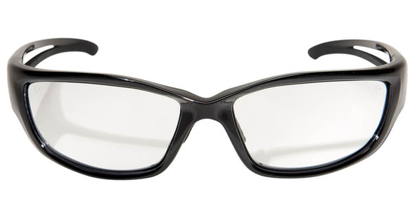Edge Kazbek XL Safety Glasses with Black Frame and Clear Vapor Shield Lens - Front