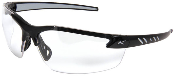 Edge Zorge G2 Safety Glasses with Black Frame and Clear Lens
