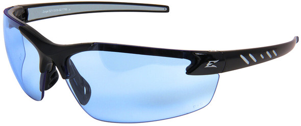 Edge Zorge G2 Safety Glasses with Black Frame and Light Blue Lens