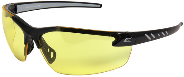 Edge Zorge G2 Safety Glasses with Black Frame and Yellow Lens