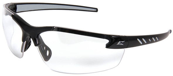 Edge Zorge G2 Safety Glasses with Black Frame and Clear Vapor Shield Lens
