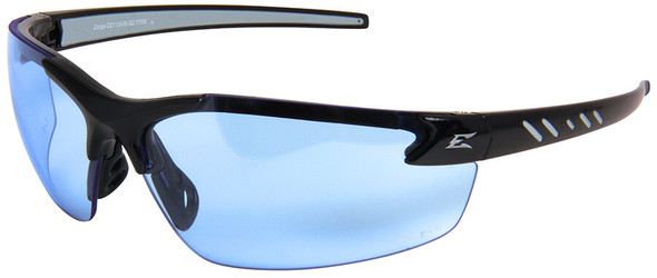 Edge Zorge G2 Safety Glasses with Black Frame and Light Blue Vapor Shield Lens