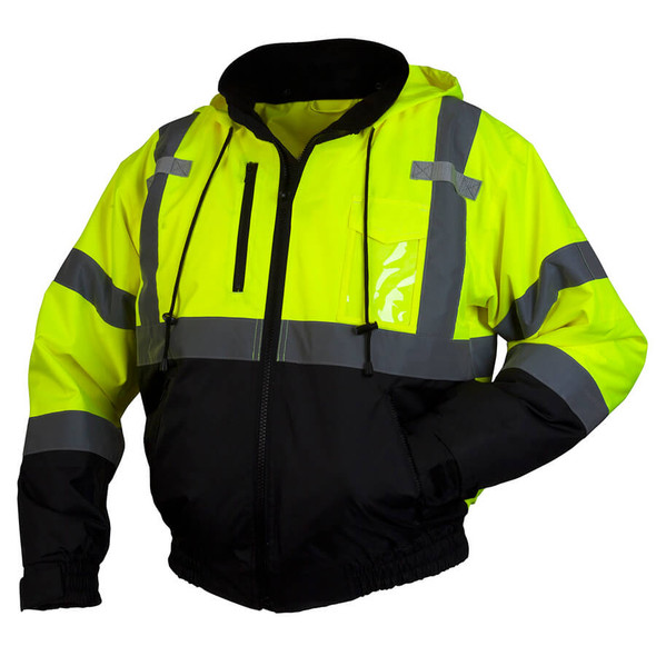Pyramex Lumen-X RJ31 Class 3 Hi-Viz Lime Safety Jacket with Zip-out Liner
