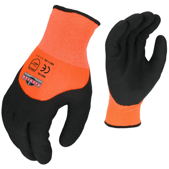 Radians RWG17 Hi-Vis Orange Cut Resistant Dipped Thermal Glove