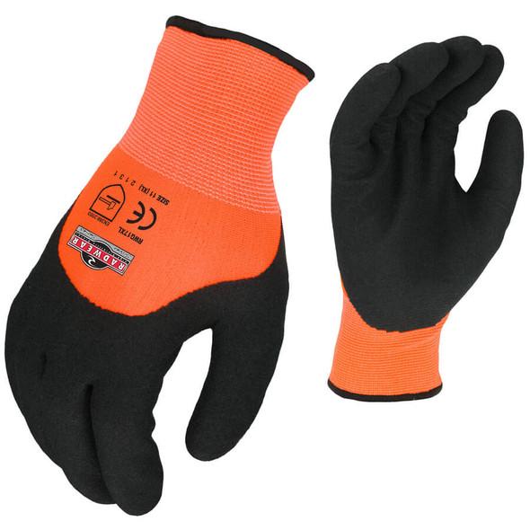Radians RWG17 Hi-Vis Orange Cut Resistant Dipped Thermal Glove