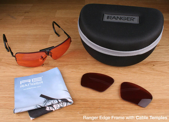 Randolph Edge 2-Lens Premium Clay Kit with HD Medium and Modified Brown Lenses with Cable Temples